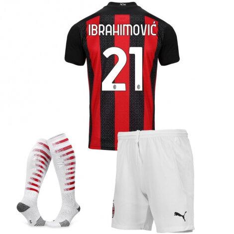 Форма Милан детская домашняя 2020-2021 комплект Ибрагимович номер 21