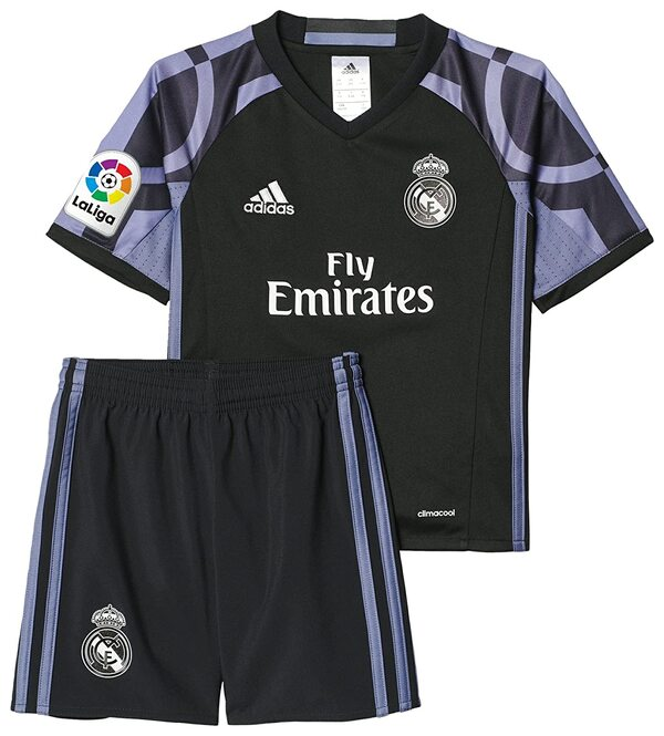Реал Мадрид (Real Madrid) Футбольная форма детская резервная 2016-2017